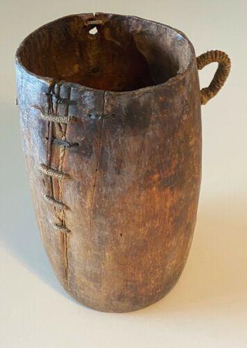 Antique African Wooden Milk Jug, Zimbabwe