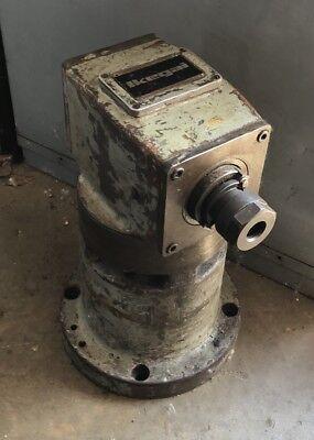 Ikegai Horizontal Boring Mill Right Angle Milling Head 16 Reach 40 Taper