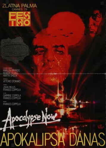 APOCALYPSE NOW Yugoslavian movie poster MARLON BRANDO MARTIN SHEEN COPPOLA PEAK