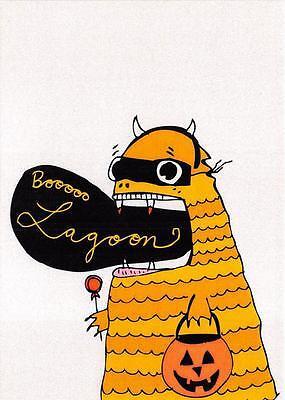 FANTASY BOO LAGOON CARTOON CHARACT HALLOWEEN HOLIDAY MODERN YUKOSUNO POSTCARD - Halloween Characters Cartoon