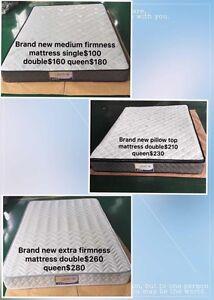 Brand new medium firmness mattress single$100 double160 queen180 Caulfield Glen Eira Area Preview