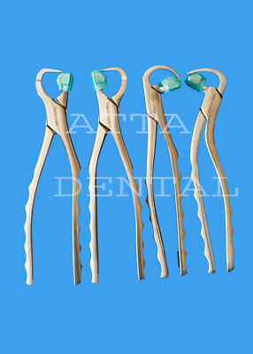 Dental Extraction Forceps Standard Series Set Of 4 Pcs 50 Bumpers Free