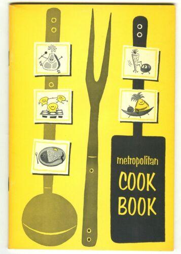 Vintage 1964 METROPOLITAN COOK BOOK! Metropolitan Life Insurance Co. (MetLife)