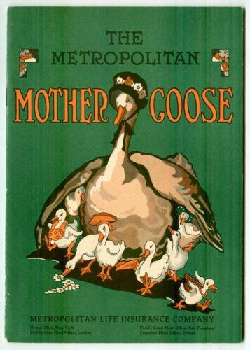 Vintage 1930s Metropolitan MOTHER GOOSE Booklet! (Metropolitan Life Insurance)