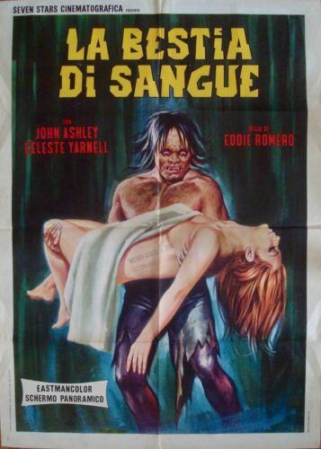 BEAST OF BLOOD Italian 2F movie poster 39x55 EDDIE ROMERO CELESTE YARNALL 1970