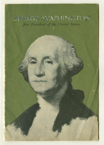 Vintage 1956 GEORGE WASHINGTON 1st President JOHN HANCOCK Life Insurance Booklet