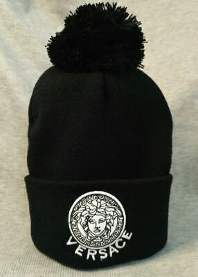 Casual Style Winter Hat Versace Embroidery Beanie Cap Unisex NEW