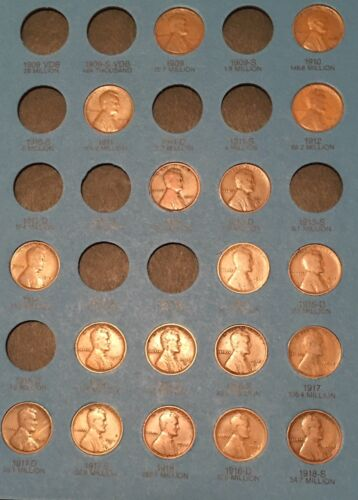PARTIAL SET (75) DIFFERENT LINCOLN CENTS 1909-P-1940 PDS NICE CIRCULATED COINS!