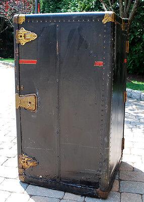 Vintage 1920s Winship Wardrobe Steamer Trunk Utica NY