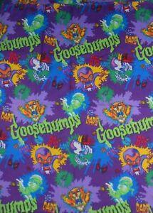 GOOSEBUMPS-Twin-Flat-Bed-Sheet-Fabric-Material-R-L-Stine