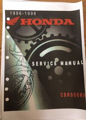HONDA CBR 900 RR WORKSHOP SERVICE MANUAL 1996 - 1998
