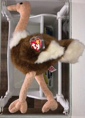 Baby Ostrich (Vintage Ty Beanie Baby, JUMBO Stretch the TALL Ostrich, New Condition)