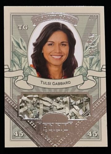 TULSI GABBARD 2020 DECISION PREVIEW SHREDDED CURRENCY / MONEY CARD  1 / 3