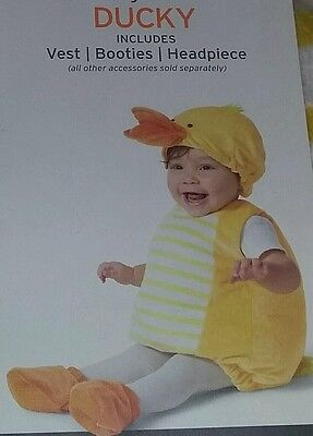 NEW Ducky/Duck 6-12 Months Baby/Infant 3-Piece Halloween Costume~~Boy/Girl