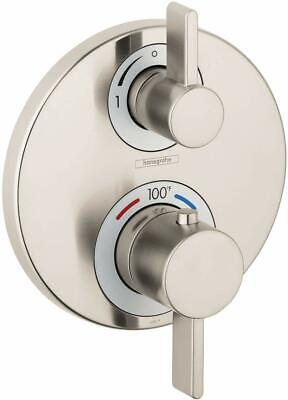 Hansgrohe Ecostat Dual Function Thermostatic Valve Trim Only with Integrated Div Dual Thermostatic Valve