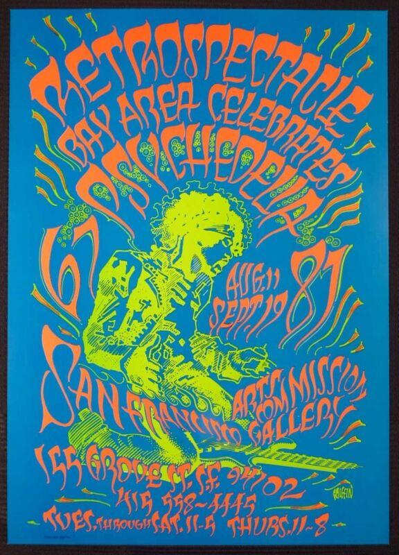 Retrospectacle Bay Area Celebrates Psychedelia 67-87 Poster Hendrix Griffin COA