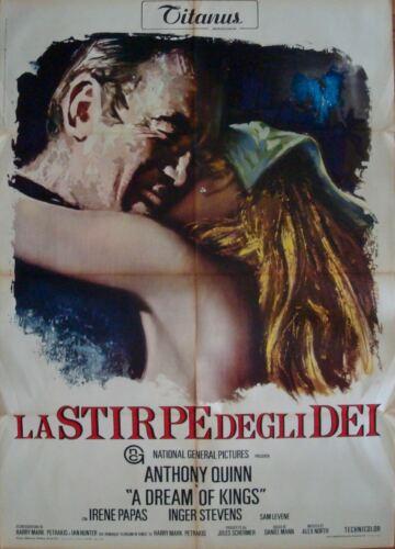 A DREAM OF KINGS Italian 2F movie poster 39x55 ANTHONY QUINN IRENE PAPAS 1969