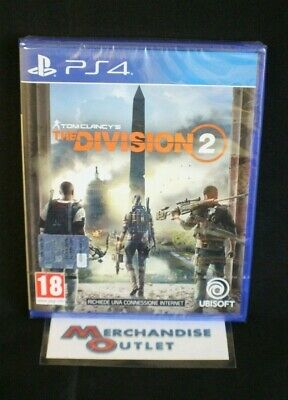 Playstation 4, The Division 2 (Region 2, Italian Import) *See Description