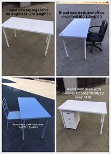 【BRAND NEW】table top with legs desk 1m length$45; 1.2m length$55 Oakleigh Monash Area Preview