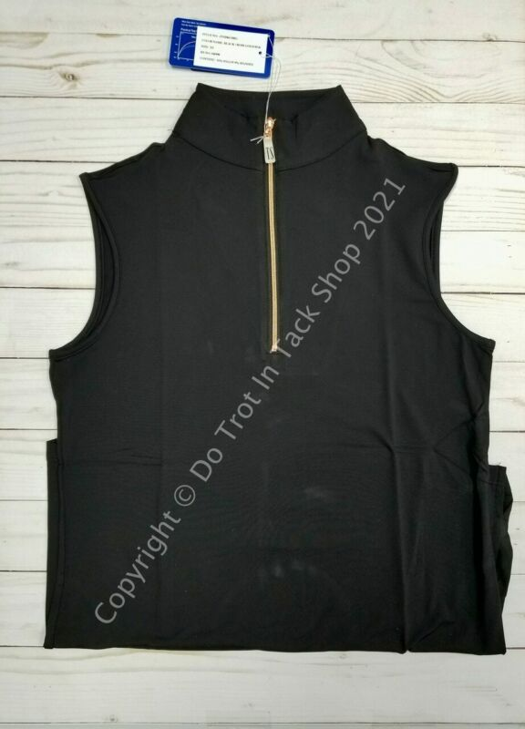 Tailored Sportsman ICEFIL Ziptop Sleeveless Shirt - Black/Rose Gold