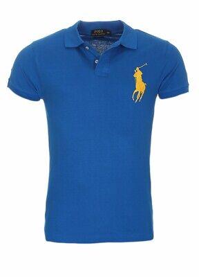 Ralph Lauren, Herren Poloshirt, OVP, Custom Slim Fit, Neu, Big Pony, Royal Blau