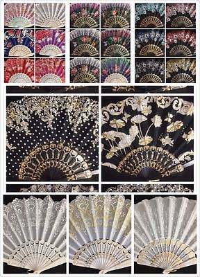 12pc Wholesale Lot Wedding Party Favor Gift Spanish Party Dance Summer Hand Fan](Wholesale Party)