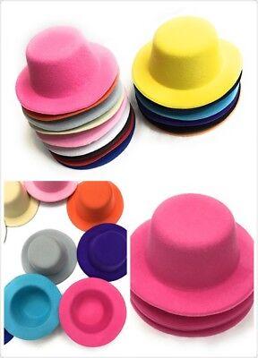 Fascinator Supplies Wholesale (Set of 4 x Mini Round Top Hat Cap Fascinator Felt Hat Base Supplies)