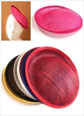 Fascinator Supplies Wholesale (20cm Round Sinamay Dipped Fascinator Base Hat Millinery DIY Supply Wholesale)