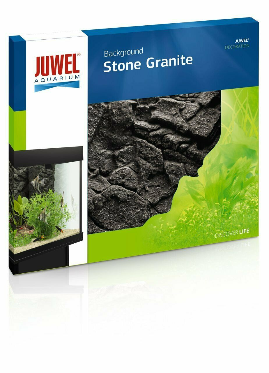 JUWEL Aquarium Motiv Poster 3D Rückwand Stone Granite Deko Strukturrückwand