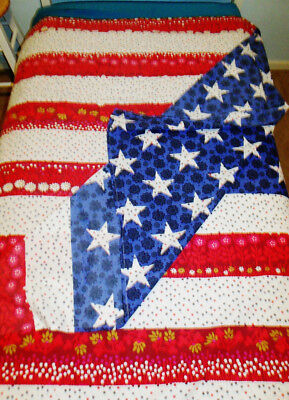 PLUM & BOW Very LARGE Flag Motif PATRIOTIC TABLECLOTH Cotton Urban Outfitters