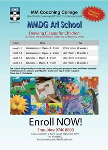 Drawing Class MMCC-------Enroll Now! Free Trial class this week! Belmore Canterbury Area Preview
