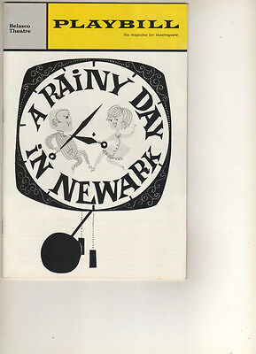 """A Rainy Day In Newark""  FLOP Playbill 1963 OPENING NIGHT Gene Hackman"