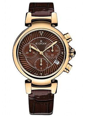 Edox LaPassion Women's Chronograph 10220 37RC BRIR Swiss watch
