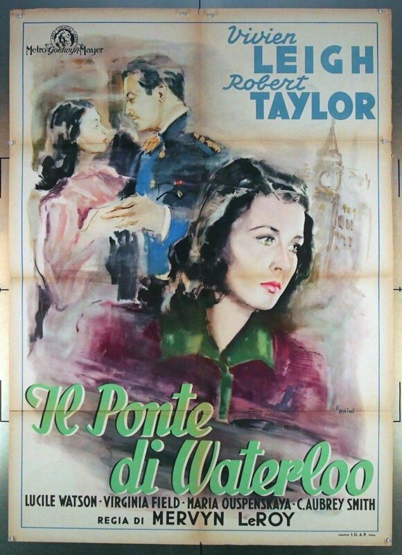 WATERLOO BRIDGE (1940) 26794  Vivien Leigh Italian Movie Poster