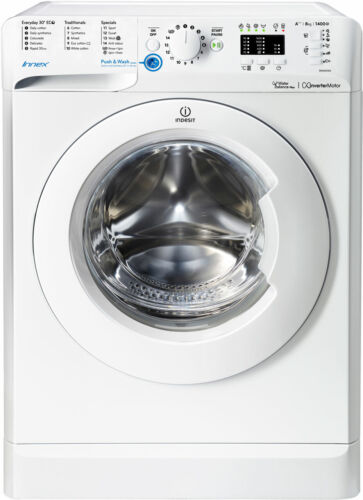 Indesit BWA81483XWUK Innex A+++ Rated 8Kg 1400 RPM Washing Machine White New