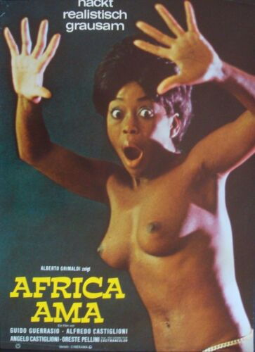 AFRICA UNCENSORED AMA German A1 movie poster MONDO SEXPLOITATION 1971 rolled NM