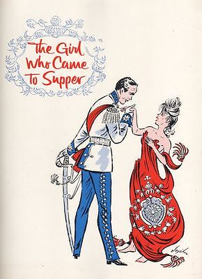 """""""The Girl Who Came To Supper""""  Souvenir Program 1963  Florence Henderson"""