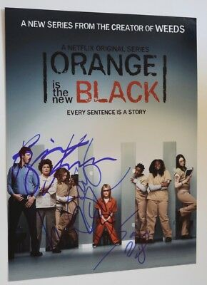 Orange Is The New Black Cast Signed Autograph 11X14 Photo Taylor Schilling  3 Vd