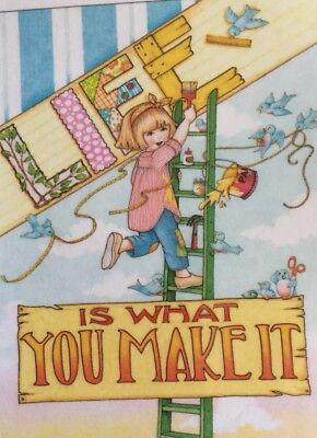 Life Is What You Make It-Handmade Fridge Magnet-Mary Engelbreit Artwork