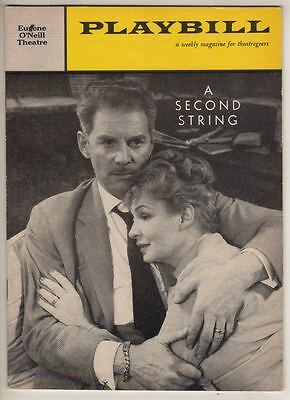 """""""A Second String""""  Playbill  1960  Shirley Booth, Jean Pierre Aumont, Nina Foch"""