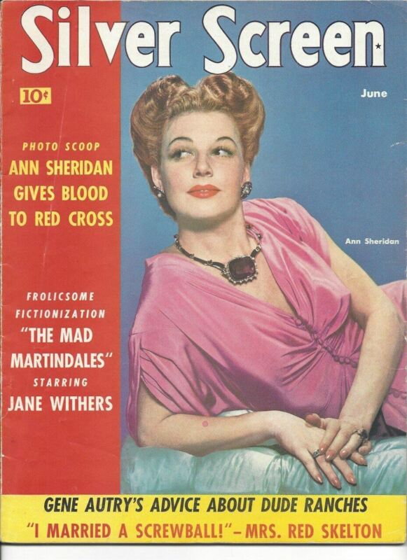 Ann Sheridan - Silver Screen - June 1942