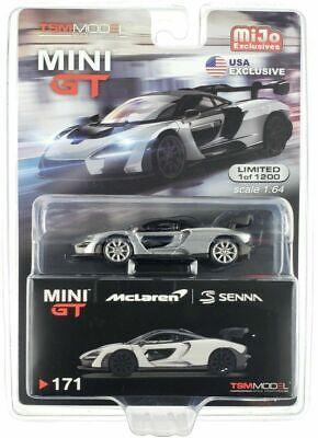 MINI GT 1:64 SILVER MCLAREN SENNA DIECAST MODEL CAR MGT00171 chase