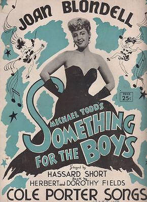"""Joan Blondell  """"Something for the Boys  """"   Souvenir Program  1944   TOUR"""
