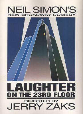 """Nathan Lane & John Slattery  """"Laughter on the 23rd Floor"""" Souvenir Program 1993"""