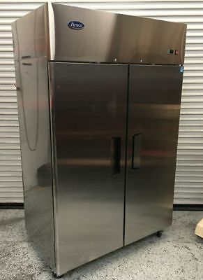 New 2 Door 52 Refrigerator Reach In Solid Stainless Steel Atosa Mbf8005gr 2212