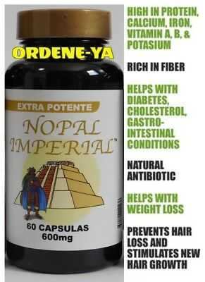 NOPAL IMPERIAL 600 mg 60 CAP Vital EXTRA POTENTE 100% ORIGINAL Alga Maya