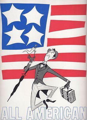 "Ray Bolger ""All American""  Souvenir Program  1962   Mel Brooks, Charles Strouse"