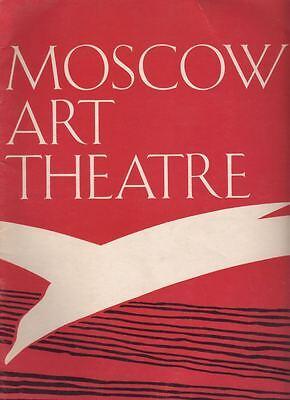 """""""Moscow Art Theatre""""   Souvenir  Program  1965  TOUR"""