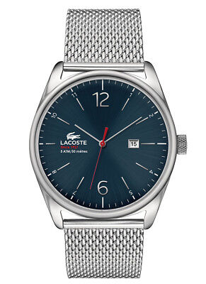 NIB Lacoste Men's Metallic 2010683 Austin Stainless Steel Bracelet Watch