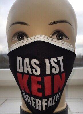 1 x FFP2 Maske CE0598 +1 x Stoffmaske waschbar das ist kein Überfall